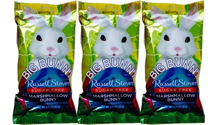 Russell Stover Sugar Free Chocolate Covered Marshmallow Rabbits, 1.75 oz. bar each, pack of 3