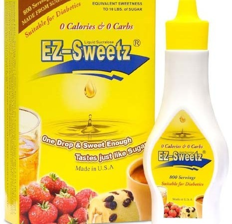 EZ-Sweetz 2 oz. – Liquid Sucralose Sweetener (800 Servings/Bottle)