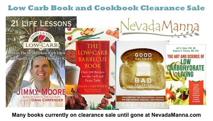 Low Carb Book and Cookbook Clearance Sale at NevadaManna.com