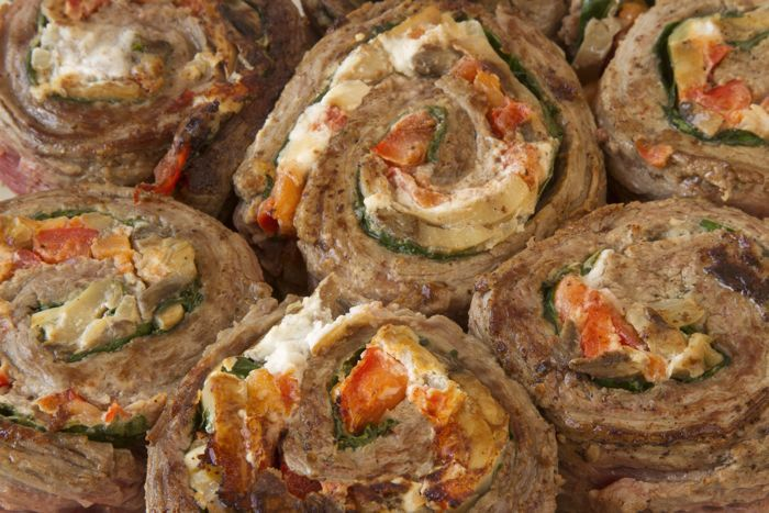 Flank Steak Pinwheels Low-Carb Recipes from CarbSmart Low-Carb & Gluten-Free Fall and Winter Entertaining