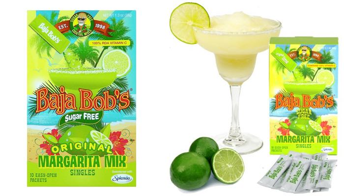 Baja Bob Sugar Free Drink Mixers Box of 10 Easy-Open Packets