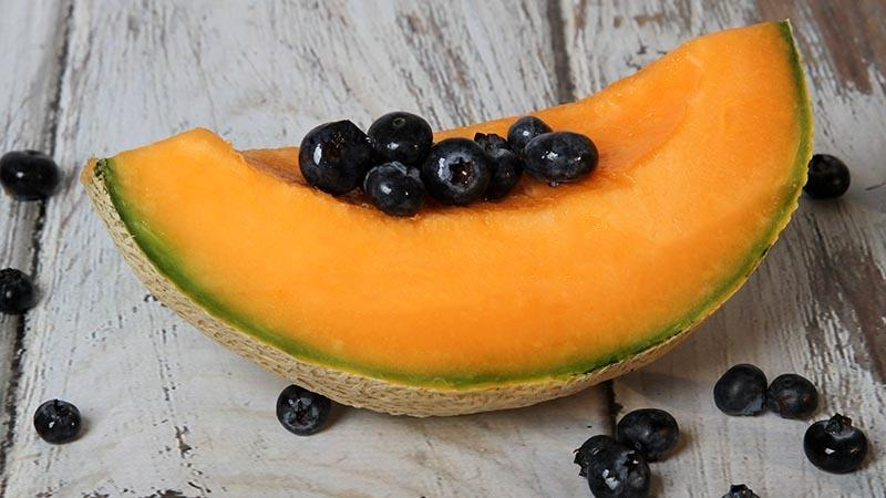 Cantaloupe Wedges With Blueberries Recipe