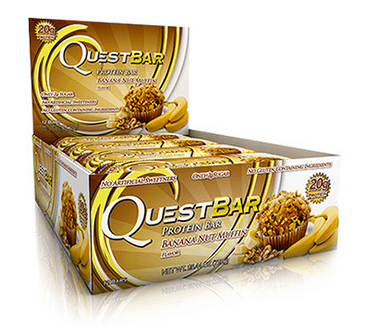 Natural Banana Nut Muffin Low Carb Gluten Free 2.12 oz. Protein Bar by Quest Nutrition
