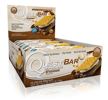 S'mores Low Carb Gluten Free 2.12 oz. Protein Bar by Quest Nutrition