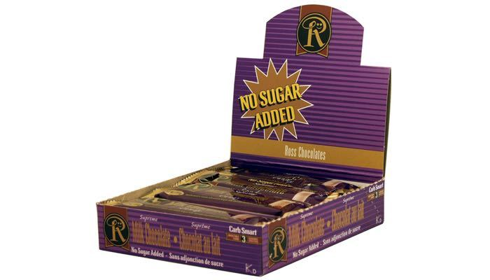 Milk Chocolate (Supreme) No Sugar Added Bars by Ross Chocolates