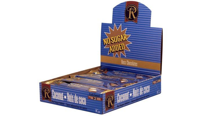 No Sugar Added Bars by Ross Chocolates