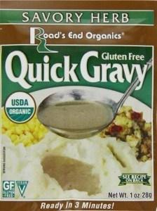 Road's End Organics Gluten Free Savory Herb Quick Gravy