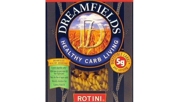 Rotini Dreamfields Low Carb Pasta 13.25 oz. box