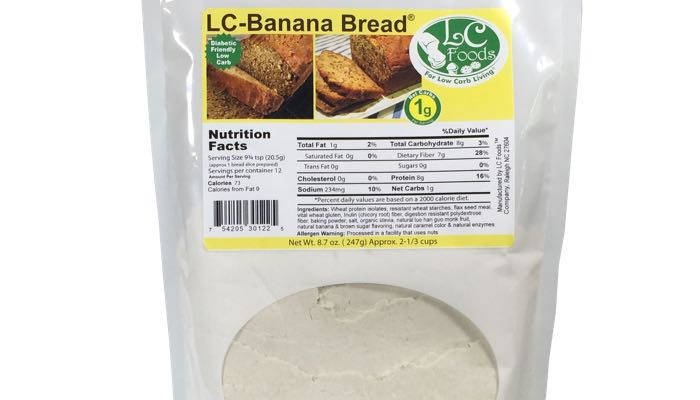 Low Carb Banana Bread Mix by LC Foods