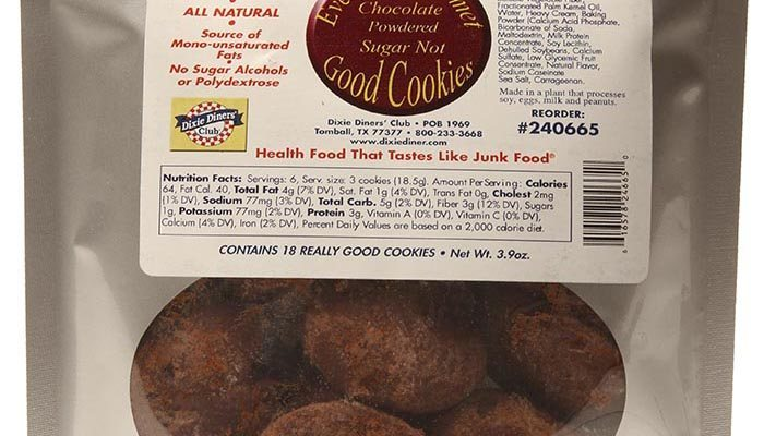 Dixie Carb Counters Chocolate Powdered Sugar Not Cookies