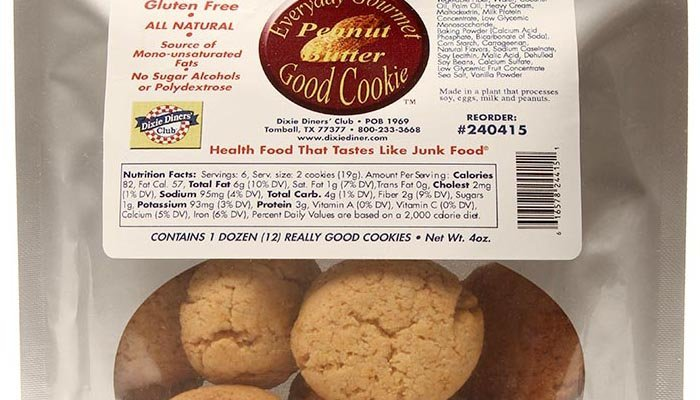 Peanut Butter Dixie Carb Counters Ready-to-Eat Everyday Gourmet Good Cookie 4 oz. bag