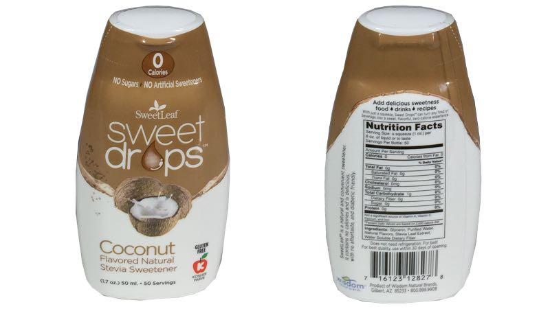 SweetLeaf Sweet Drops Liquid Stevia Coconut Sweetener