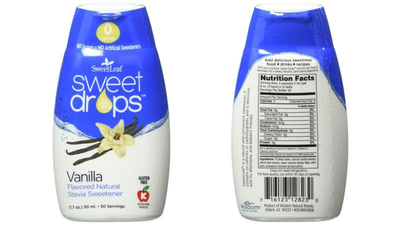 SweetLeaf Vanilla Sweet Drops Liquid Stevia Sweetener