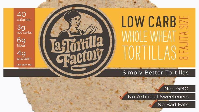 La Tortilla Factory Low Carb Whole Wheat Fajita Size
