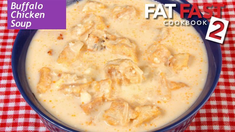 Buffalo Chicken Soup recipe from Fat Fast Cookbook 2