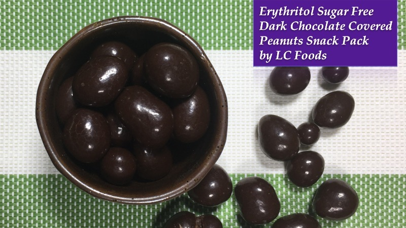 Erythritol Sugar-Free Dark Chocolate Covered Peanuts Snack Pack by LC Foods