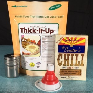 Dixie Carb Counters Thick It Up Low-Carb Thickener Bundle with Chili Mix