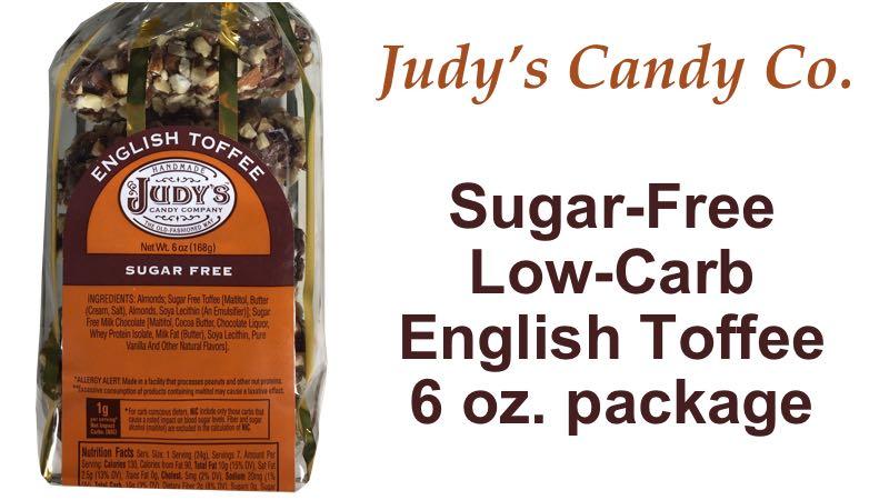 Judy's Candy Co. Sugar Free English Toffee 6 oz. bag