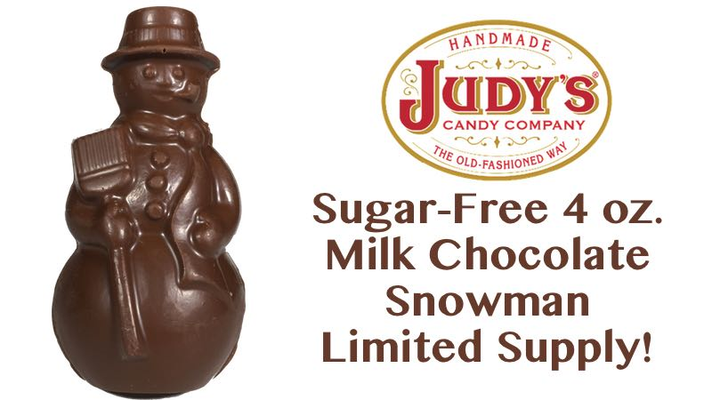 Sugar-Free 4 oz Milk Chocolate Snowman