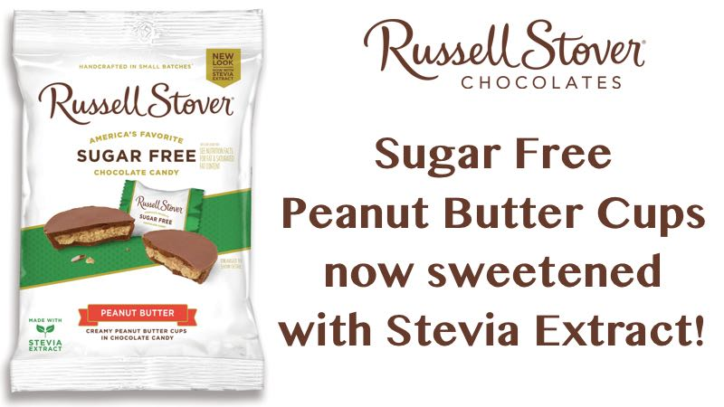 Russell Stover Sugar Free Peanut Butter Cups with Stevia 3 oz Bag