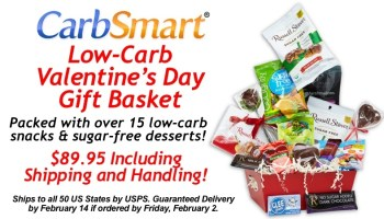 Carbsmart sugar free low carb easter basket carbsmart low carb valentines day gift basket guaranteed delivery by february 14 negle Gallery