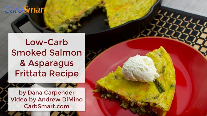 Low-Carb Smoked Salmon and Asparagus Frittata Recipe