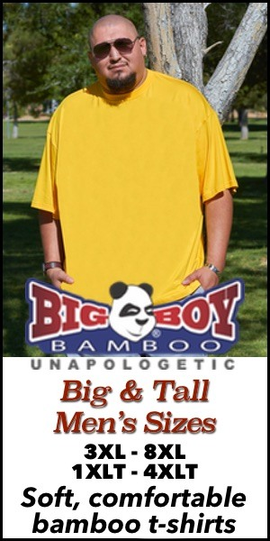 Big Boy Bamboo Men's Big & Tall Bamboo T-Shirts