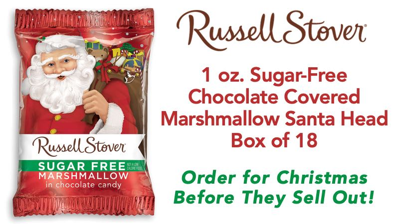 Russell Stover Sugar-Free 1 oz Santa Head