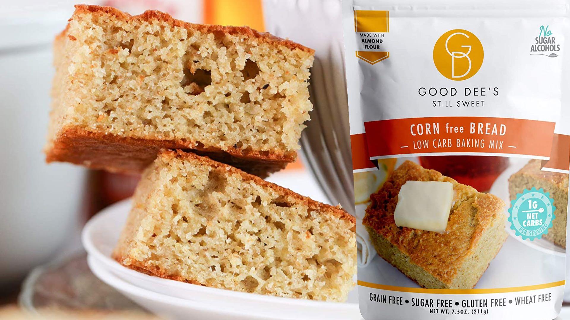 Good Dee's Corn Bread Grain-Free, Low-Carb, Sugar-Free, Gluten-Free, Wheat Free Baking Mix