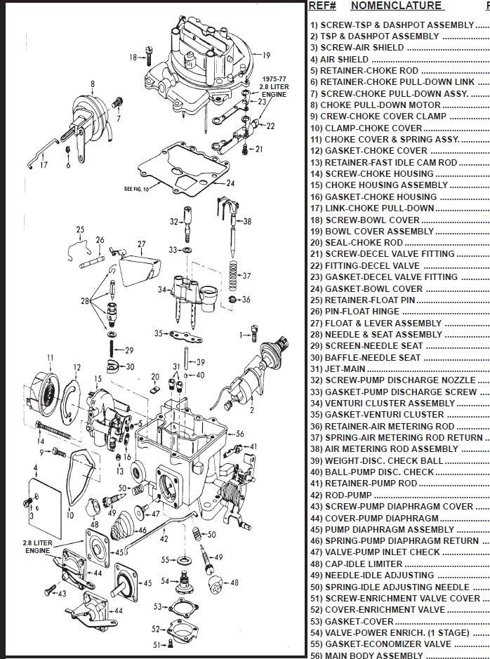 Ford Motorcraft 2 Barrel Carburetor Parts Page