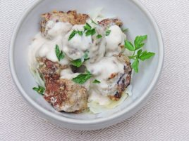 PORK MEATBALLS WITH SOUR CREAM GRAVY