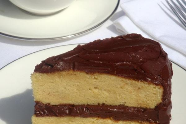 YELLOW CAKE WITH CHOCOLATE BUTTER CREAM FROSTING