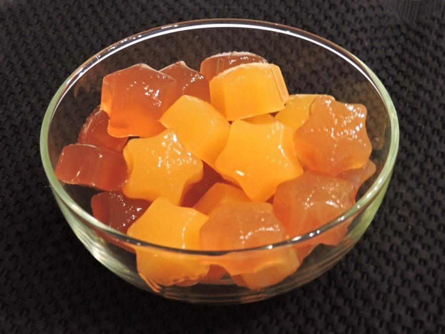 Bone Broth, Peach, and Apple Gummies - Copyright 2020 Judy Barnes Baker - CarbWarsCookbooks.com