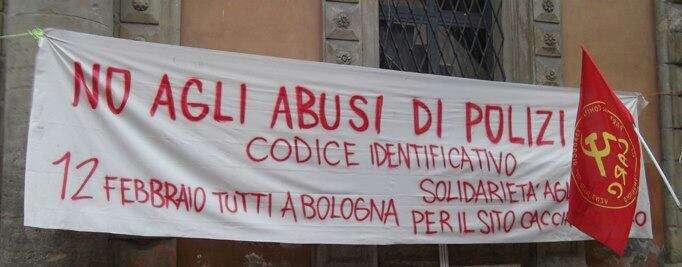 Il VII Reparto mobile di Bologna contro la vigilanza democratica e l'attuazione della Costituzione!