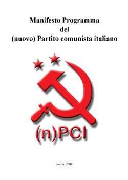 [Napoli] Il saluto di Ulisse per la presentazione del Manifesto Programma del (n)PCI: la differenza tra l'apparenza delle cose e la costruzione della rivoluzione socialista!