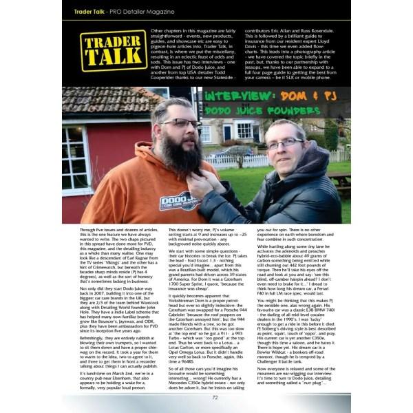 PRO Detailer Magazine - Nr. 5-2017 - Trader Talk