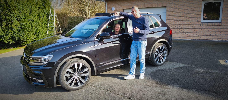 client satisfait Importateur Automobile Volkswagen Occasion Allemagne - Carcelle.com - VW Tiguan