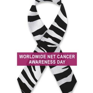 Worldwide NET Cancer Awareness Day ribbon