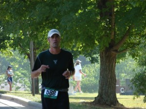 Kenneth Todd nearing the finish line