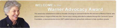 """Sunny Susan"" Anderson Wins 2012 Warner Advocacy Award"