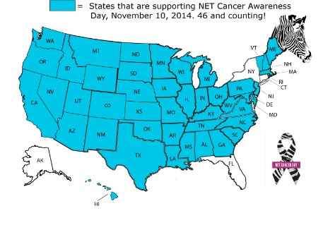 US Governors Support NET Cancer Awareness