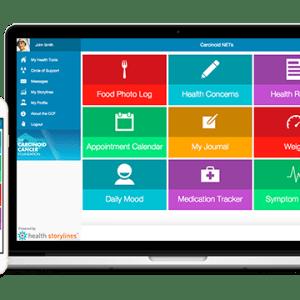 App, Carcinoid NETs on desktop or mobile