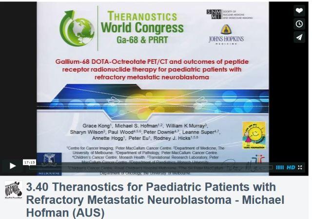 3rd Theranostics World Congress, Michael Hofman MD, Neuroblastoma