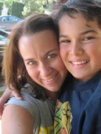 Lisa Pawlak and her son, Joshua