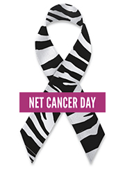 NET Cancer Day ribbon logo 2012