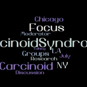 Carcinoid Syndrome Focus Groups wordcloud