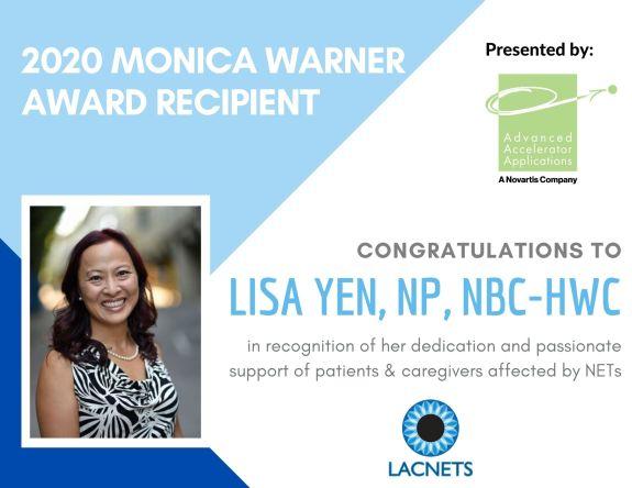 Monica Warner Award 2020, Lisa Yen, LACNETS, recipient