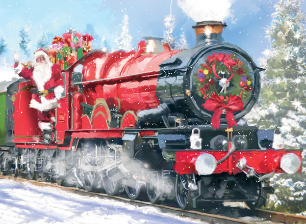 Santa Express Traditional Christmas Cards