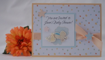 Homemade Baby Shower Invitations With Examples Of Handmade Cards