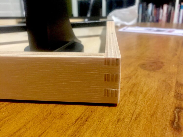 BONK board is constructed with box joints instead of screws